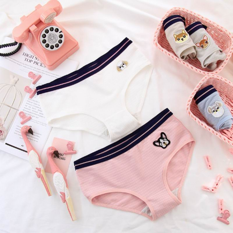4 Pcs/lot Hot Sale Underwear Baby Girl Underwear Sweet Smile   panties   Children's Briefs 10-25 years