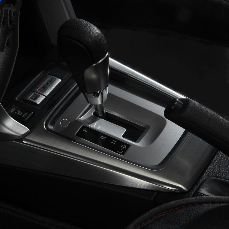 High quality Car gear panel stainless steel decorative trim 3pcs  for Subaru   Forester accessories 2013 2014 2015 2016 2017 high quality stainless steel wire drawing water glass holder panel 1pcs for lexus 2016 rx200 rx450h accessories