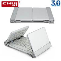 CHYI Portable Twice Fold 3 0 Bluetooth Keyboard BT Wireless Foldable Touchpad Keypad For IOS Android