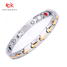 Oktrendy Accessories Women Stainless Steel Magnetic Bracelet Adjustable Handmade Chain Femme 2019