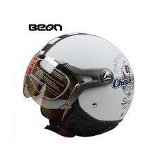 2015 hot sale BEON motorcycle helmet vintage mens womens moto capacete half face helmet ECE Approved