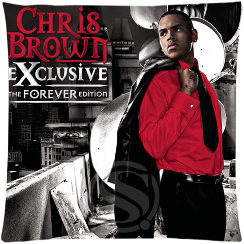 US $3 51 20% OFF SQ00607 ZHH01 Free shipping Custom Zippered Square  Pillowcase chris brown fortune album sfot Pillow Cover Case-in Pillow Case  from