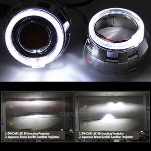 Image 5 - 2x3.0 Pro LED Lensler araba farı bi xenon Hid Projektör Lens CCFL LED Melek Gözler Halo DRL Far araba Güçlendirme Aksesuarları