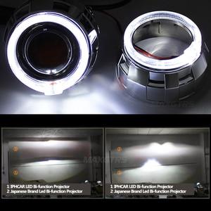 Image 5 - Projecteur de voiture bi xénon Hid 2x3.0 Pro LED lentilles, lentille de projecteur, CCFL LED yeux dange Halo DRL, accessoires de rénovation de voiture