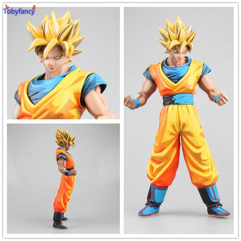 все цены на  Tobyfancy Dragon Ball Z Figures Tenkaichi Budokai Son Goku Comic Color Kakarotto Action Figure Toy PVC 27CM Super Saiyan Goku  онлайн