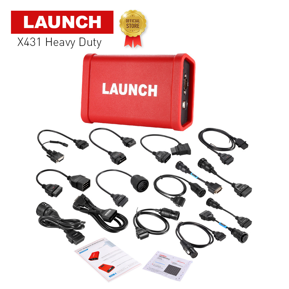 2018 LAUNCH X431 HD Heavy Duty special for 24V truck work with 10'' inch work with X431 V+, X-431 PRO3 X-431 PAD II DHL free