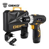 DEKO GCD12DU3 12 вольт Макс DC литий-ионный Батарея 3/8-дюймовый 2-Скорость электрическая дрель мини отвертка Беспроводной Мощность драйвер