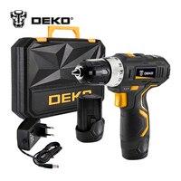 DEKO GCD12DU3 12 Volt Max DC Lithium Ion Battery 3 8 Inch 2 Speed Electric Cordless