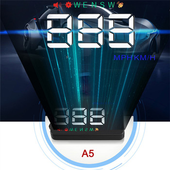 A5 HUD 3 5 inch Car Head Up Display Windshield Projector Speedometer