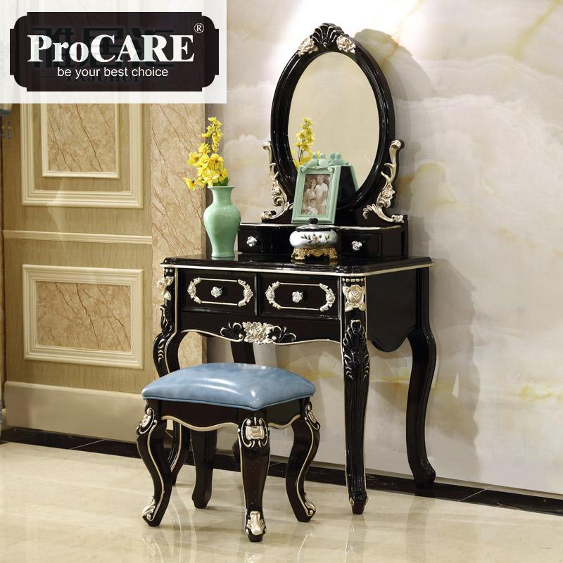 European-style Dressing Table Solid Wood Dressing Table Bedroom Ebony classical Dressing TableEuropean-style Dressing Table Solid Wood Dressing Table Bedroom Ebony classical Dressing Table