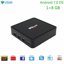 Vmade Smart Mini TV Box Android 7.0 Quad Core UHD 4K Allwinner H3 1+8GB IPTV Set-Top Box Support 1.0GHZ Wifi Goolge TV Netflix vmade v96 smart mini iptv box hd 4k h 265 android 7 1 allwinner h3 quad core 2g 16g 1 5g wifi google tv media player set top box