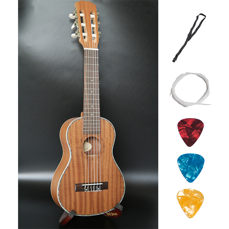 Acoustic Guitalele Ukulele 28 Inch Hawaiian Shaliber Celluloid Mini Guitar 6 Strings Travel Guitar Uke classical guitar strings set 6 string classic guitar clear nylon strings silver plated copper alloy wound alice a108