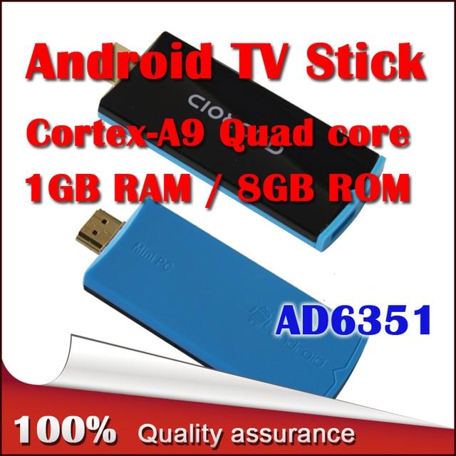 AD6351 Android TV box RK3188 28nm Cortex-A9  Quad core 1GB / 8GB Android 4.2.2 HDD Player  XBMC  Mini PC TV Box  Free Shipping