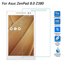 цены For Asus Zenpad 8 Z380 Z380C Z380KL Tempered Glass Screen Protector For Asus Zenpad Z370CG Z370 Z370C 7.0