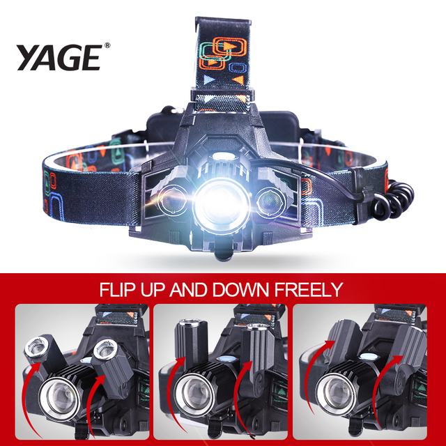 YAGE lampe frontale flashlight Head Lamp Lights linterna frontal t6 LED headlamp headlights flashlights forehead 18650 hoofdlamp