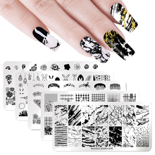NICOLE DIARY Nail Stamping Plates Geometry Flower Animal Overprint Designs Stamp Stencil Art Template Manicure Tools