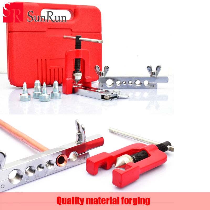 Freeshipping Metric and inch Tube expander tool Air conditioning maintenance tools Reamer copper pipe Tube expander tool SJ0058 the vertical and horizontal tool ct 195a inch tube expander expander tube flaring tool of air conditioning