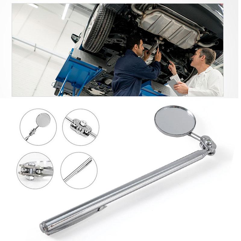 Зеркало для осмотра для обнаружения универсальное складное зеркало машинисты инспекторы телескопические 30 мм прочный металл