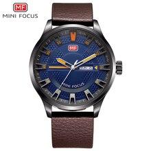 Мини фокус мужские часы марки Роскошные Кварцевые спортивные часы мужской часы кожаный Relogio masculino военный наручные часы для Мужские