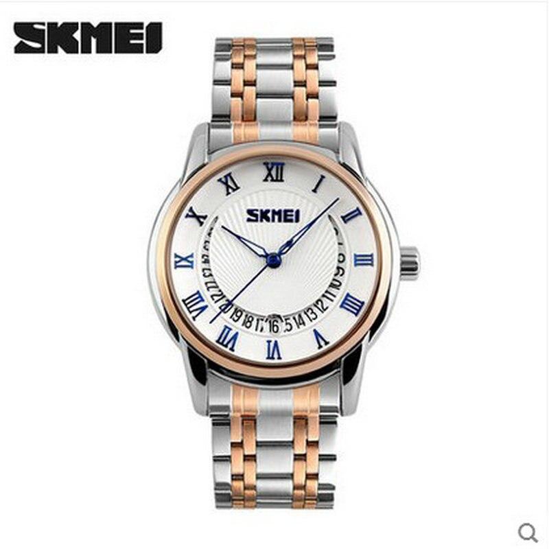 alibaba skmei brand watch men wristwatch stainless steel back waterproof 3atm