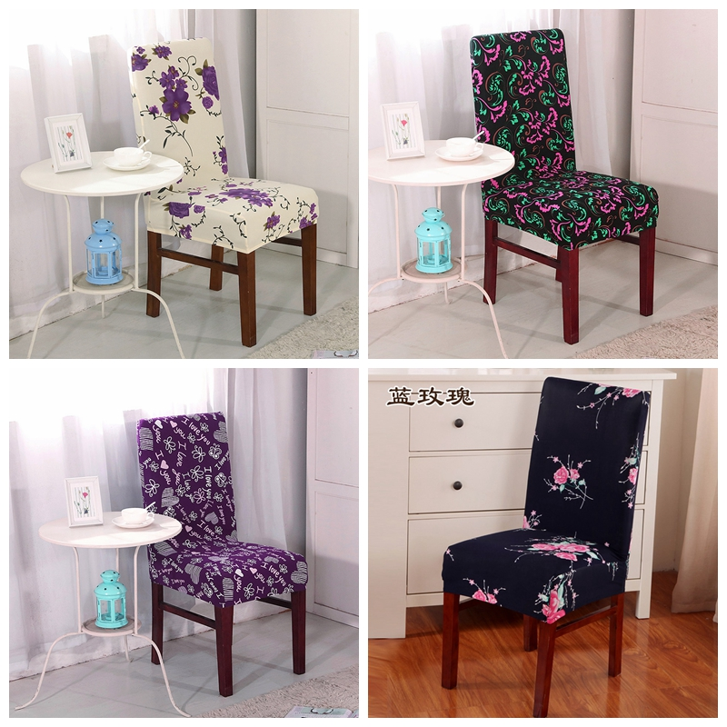 Polyester Dining Room Chair Covers For Wedding Cover Dinging Seat Removable Stretch Elastic
