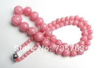 xiuli 001269 Natural Argentina Rhodochrosite Round 7 14mm Beads Necklace for Women