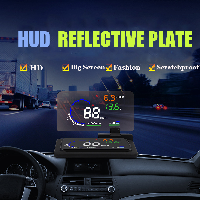 Autool H6 HUD Smartphone Projector Head Up Display Holder HUD Reflective Plate Car font b GPS