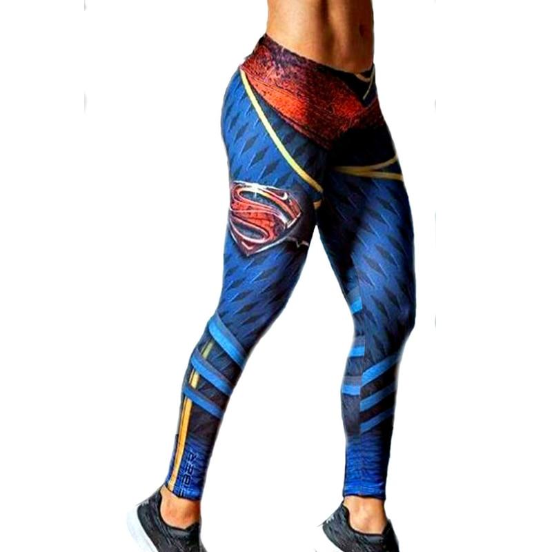 Európa Amerika Stílusok Superman 3D nyomtatás Női leggings Fitness szexi új Stretch tánc edzés Legging ropa deportiva mujer