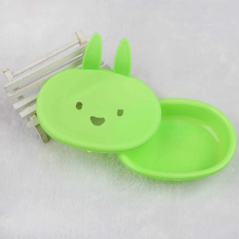 Funkcja do przechowywania w domu pudełko na mydło łazienka prysznic królik kształt pudełko na mydło pojemnik na naczynia do przechowywania płyta tacka Case pojemnik