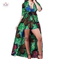 New Bazin Riche African Clothe Half Sleeve Maxi Dress Dashiki African Print Short Pants 2 Piece Set Women Clothing 6XL WY1385
