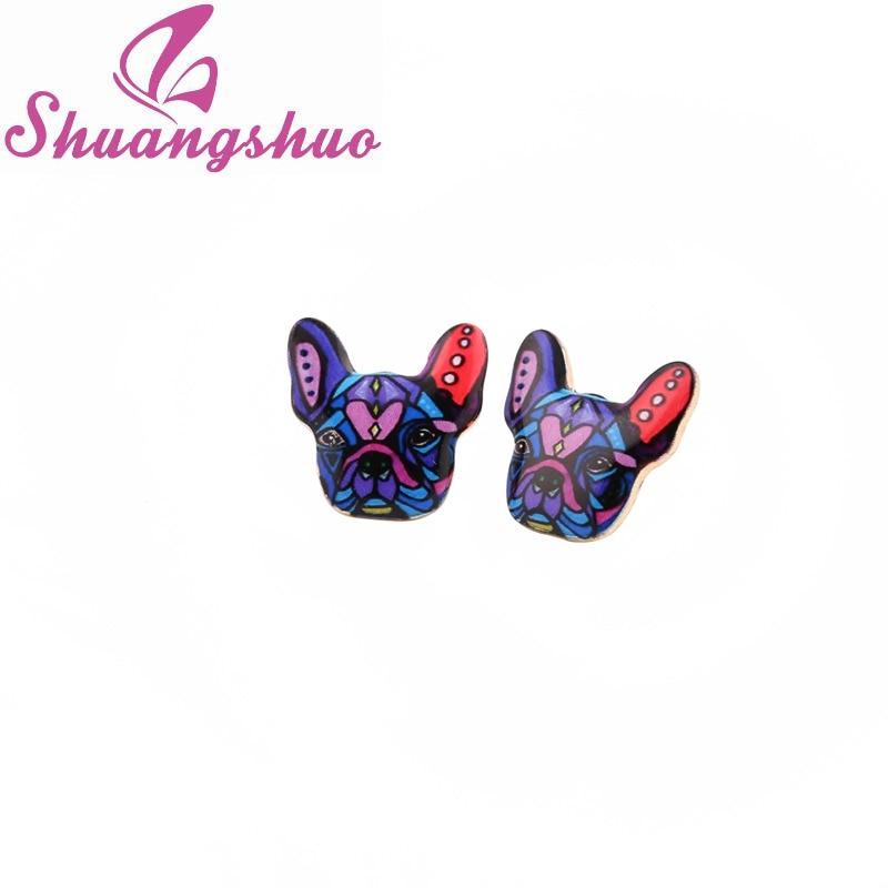 Shuangshuo 2017 Yeni Moda Rəngarəng Heyvan Diş Sırğaları - Moda zərgərlik - Fotoqrafiya 3
