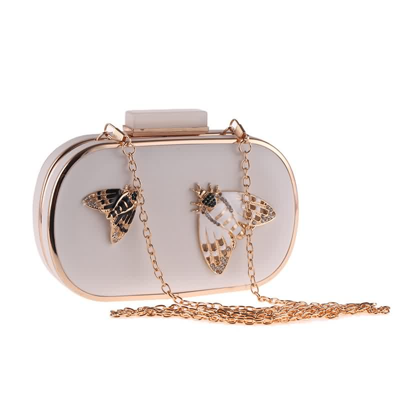 Diamond Pearls Beaded Insect Clutch Bag 1