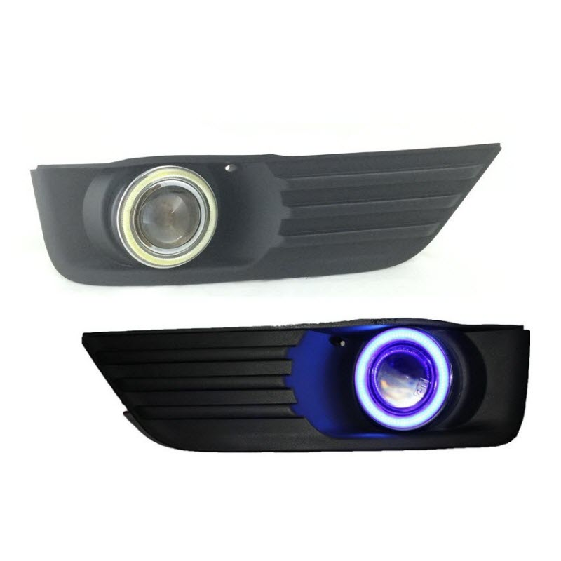 For Ford Focus 2004-2008 White Angel Eyes DRL Yellow Signal Light H11 Halogen / Xenon E13 Fog Lights Projector Lens