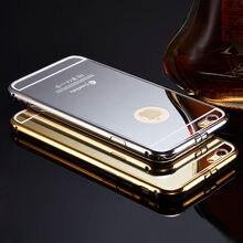 Luxury Aluminum Ultra-thin Mirror Metal Case Cover for iPhone 5 5s 5c SE 6 6s plus  7 Plus