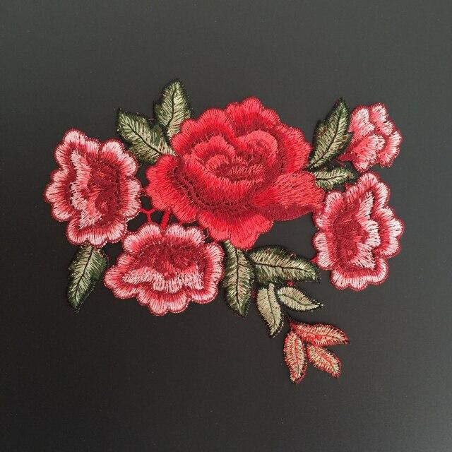 Venise de la flor del Peony Encaje collar applique Parches escote Venise Telas bordado para Accesorios artes Costura