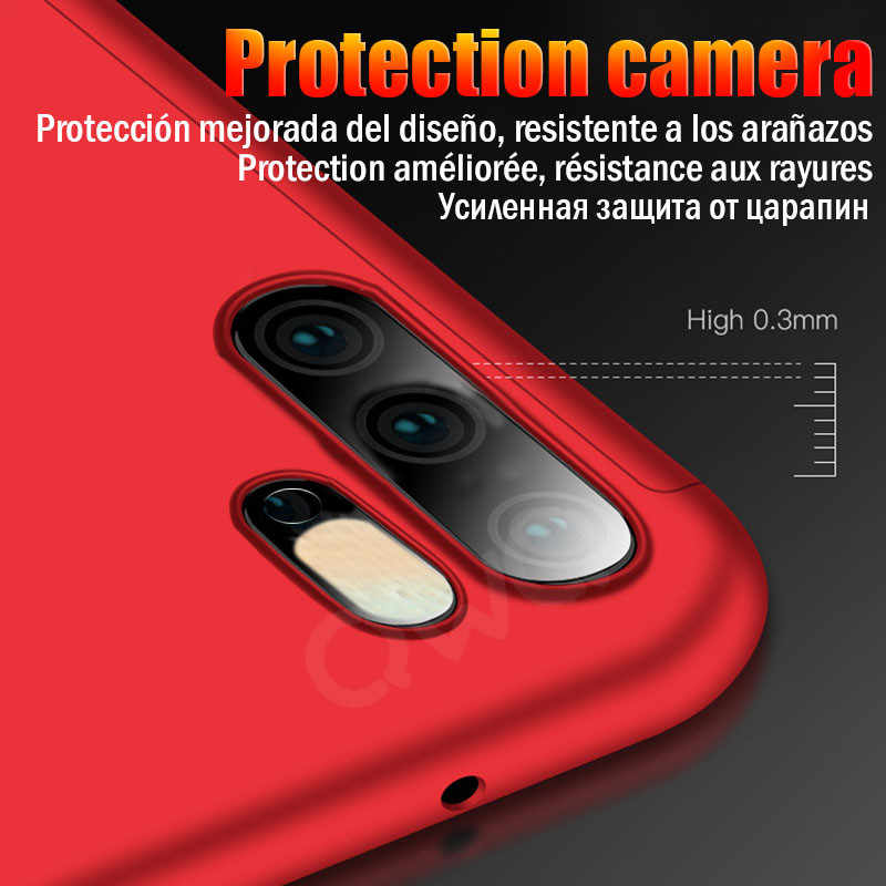360 degree matte box Phoen case For Huawei p20 p30 Mate 20 10 lite pro full protective Cover For Huawei P10 lite nova 3 3i Shell