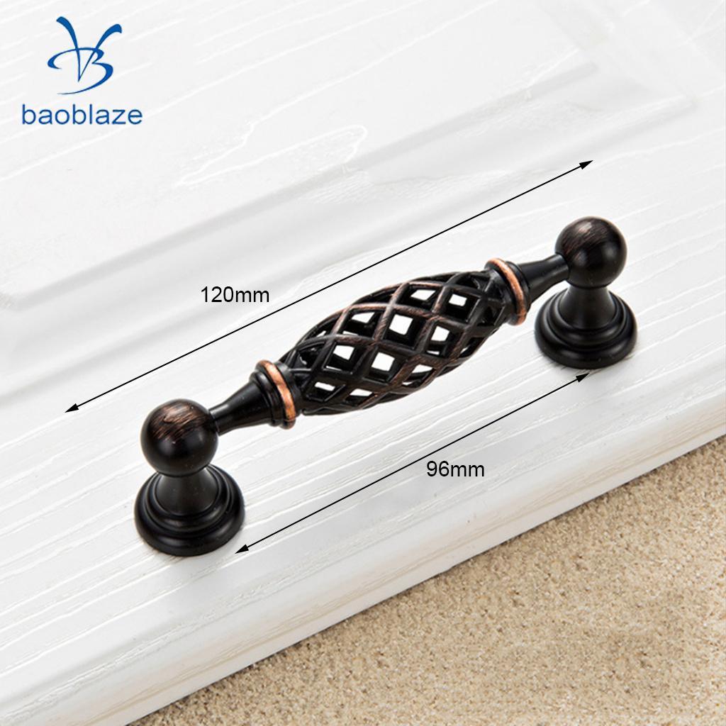 40pcs Vintage Zinc Alloy Door Handles Pull Knobs Bird Cage Spiral Design Iron Handle Drawer Cabinet Cupboard Door Hardware