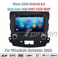 Topnavi 7'' Octa Core S200 Android 8.0 Car DVD Multimedia Player for Mitsubishi Outlander Audio Radio Stereo 2DIN GPS Navigation