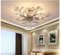 Недавно современных кристалл потолочный светильник для Спальня Творческий Дизайн украшения дома Светодиодное освещение светильники Свет