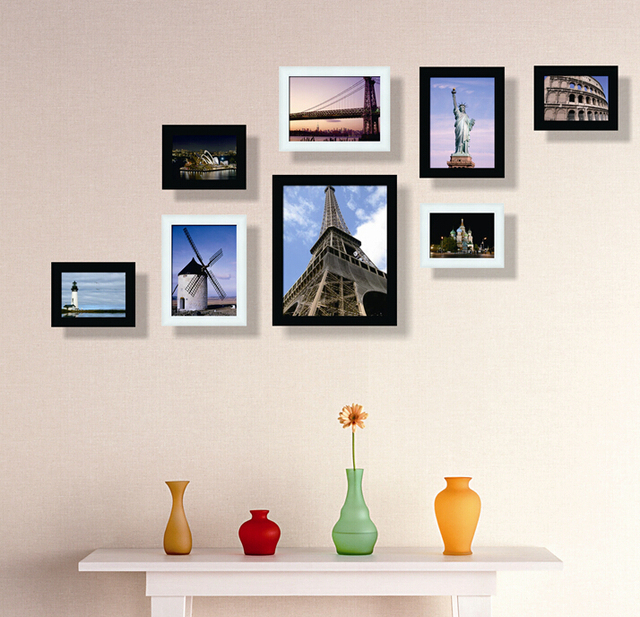 8pcs Set Home Decor Wall Frames House Picture Decoration Painting Bedroom