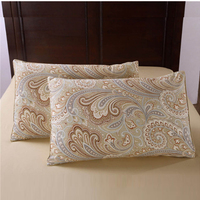 High Quality 100 Egyptian Cotton Satin Noble Pillowcase Flower Soft Breathable Smooth Pillow Case Cover On