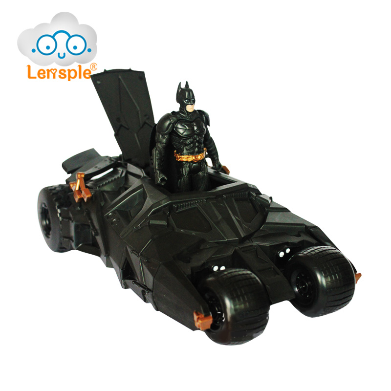 Lensple Genuine Batman Chariot Model Tumbler Batmobile Toy PVC Action Figure The Dark Knight Rises Best Birthday Gifts For Kids недорого