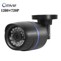 보안 IP 카메라 1280*720 마력 1.0MP ONVIF 2.0 IR 총알 야외 방수 야간 P2P IP 캠 IR 컷 필터 메가 픽셀 렌즈