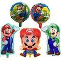 1 шт. Супер Марио серии; Модели с мультяшными изображениями воздушные шары из алюминиевой фольги Воздушные шары День рождения украшения Дет...