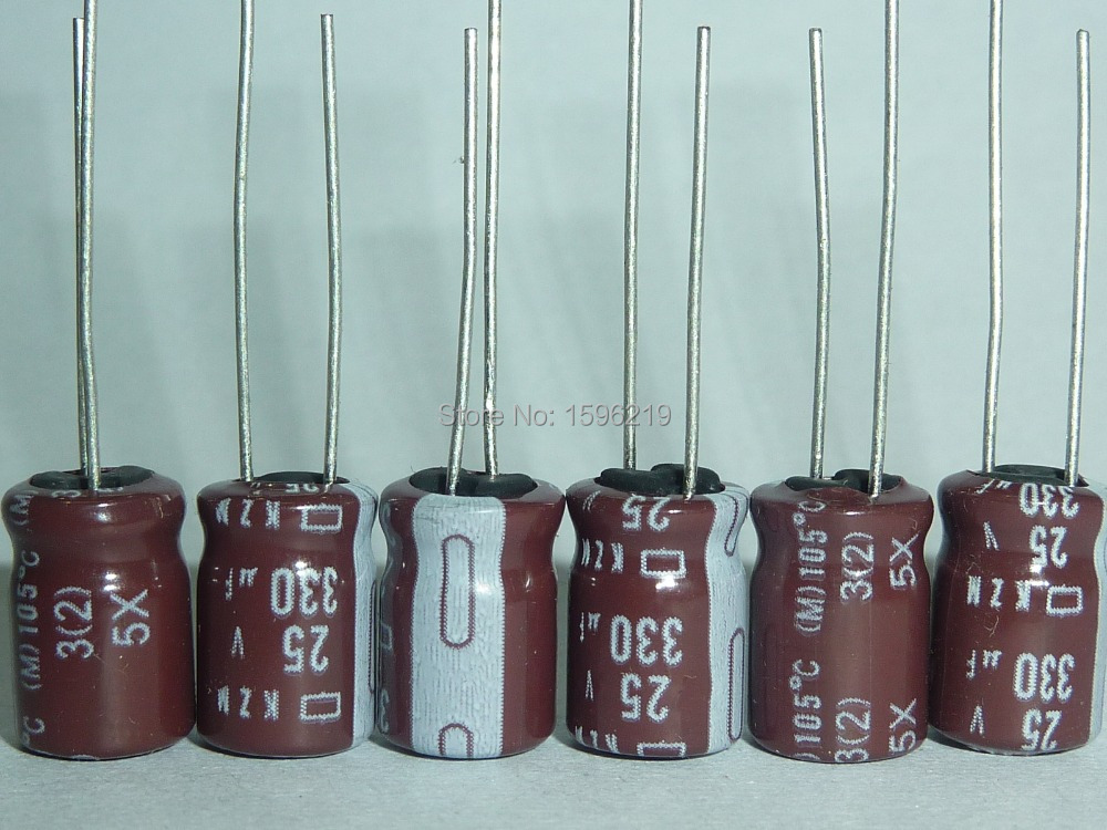 10pcs 330uF 25V NIPPON NCC KZM Series 8x11.5mm Low Impedance 25V330uF Aluminum Electrolytic Capacitor