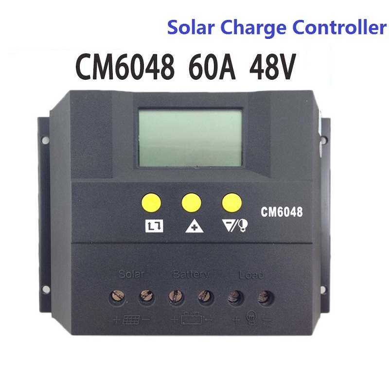 LCD Display CM6048 60A 48V PWM Solar Charge Controller/Solar Regulator lcd display cm6048 60a 48v pwm solar charge controller solar regulator