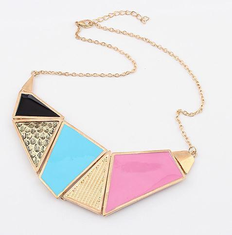 multicolor statement metal necklace wholesale jewelry 2013 fashion chunky necklace for women