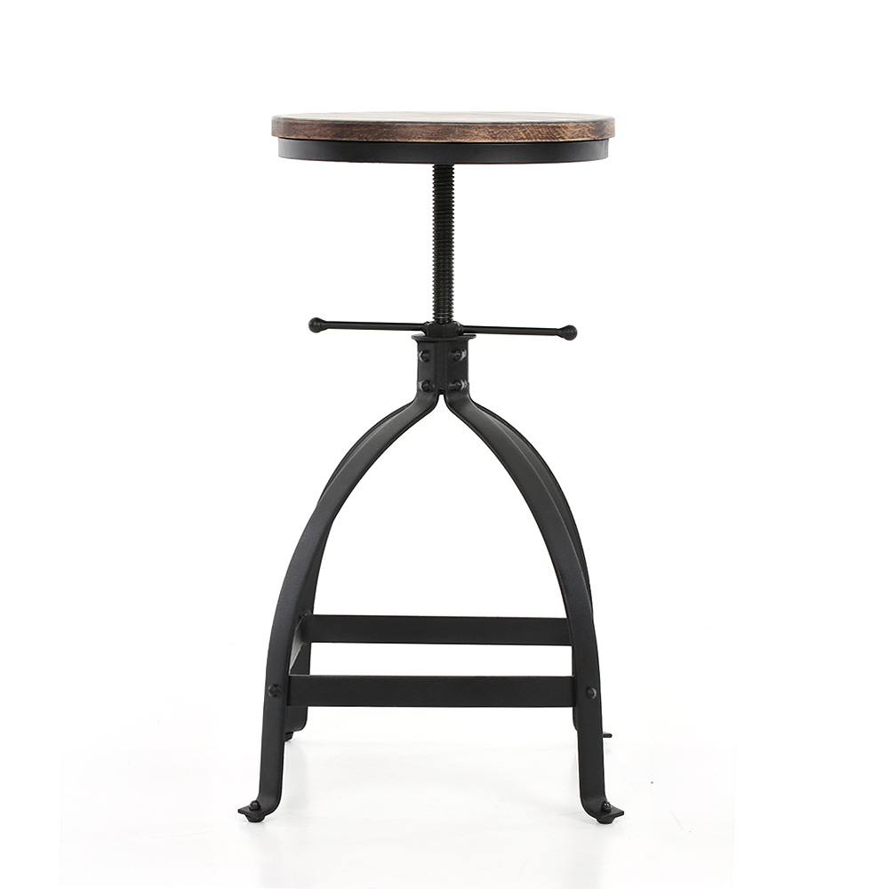 Ikayaa industrial estilo taburete altura ajustable giratorio cocina ...