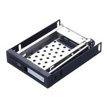 Uneatop ST2510S Single Bay 2.5″ Aluminum Case SATA HDD Internal Enclosure Silver Door