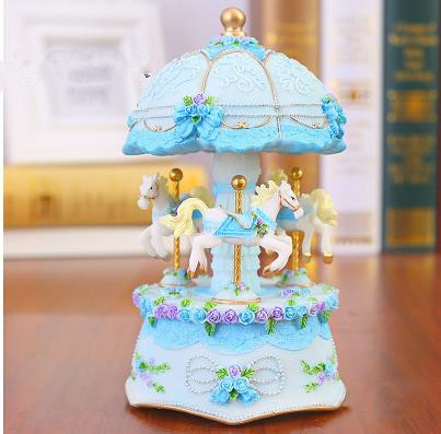 Beautiful music box, carousel, the best birthday present, home desktop decoration crafts